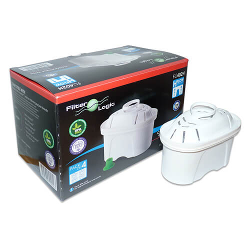 FilterLogic FL402 Compatible with Brita Maxtra (4 Pack)